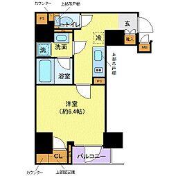 都営大江戸線 牛込柳町駅 徒歩2分の賃貸マンション 4階1Kの間取り