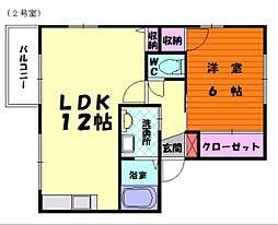 レーベン21[1階]の間取り