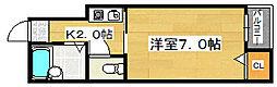 ミドウスジ堺[1階]の間取り