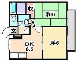 サンシティー大江島[2階]の間取り