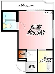 埼玉県熊谷市曙町4丁目の賃貸マンションの間取り