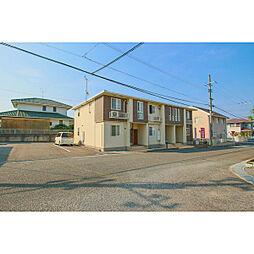 岡山県赤磐市桜が丘西9の賃貸アパートの外観