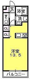 エスプラス夙川[2階]の間取り