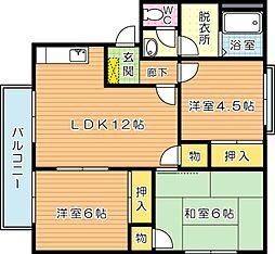 リゾット花房 A棟[2階]の間取り