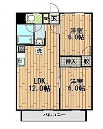 コーポ元木[2階]の間取り