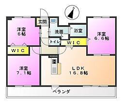 塔世西裏MSビル[7階]の間取り