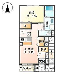 裾野市金沢 新築アパート[00103号室]の間取り
