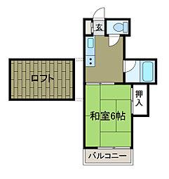 フロンティアオリト[2階]の間取り