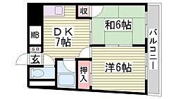 鯉川マンション[801号室]の間取り
