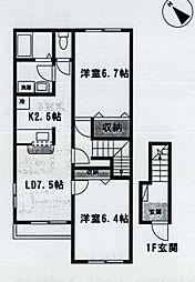 ミラドール[2階]の間取り