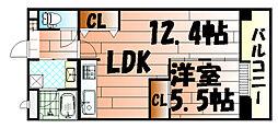 コンプレートFUJIMI[802号室]の間取り