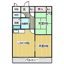 愛知県名古屋市中川区前田西町2丁目の賃貸マンションの間取り