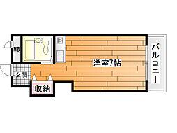 メゾン阪南[4階]の間取り