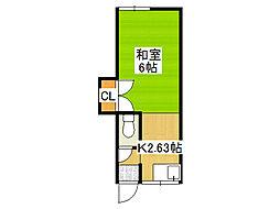 新今里4シェアハウス[1階]の間取り