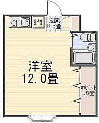 フィールズマンション[203号室]の間取り