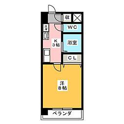 パークメゾンきもと[4階]の間取り