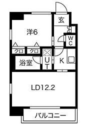 Osaka Metro御堂筋線 本町駅 徒歩5分の賃貸マンション 6階1LDKの間取り