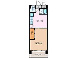 39マンション[4階]の間取り