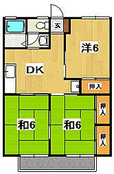 セジュール神長[1階]の間取り