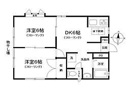 コーポタカハシ[1階号室]の間取り