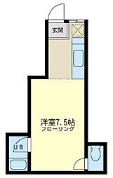 神奈川県横浜市鶴見区潮田町1丁目の賃貸アパートの間取り