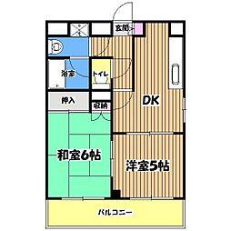 東京都小金井市貫井南町1丁目の賃貸マンションの間取り