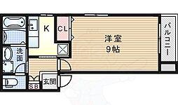JR東海道・山陽本線 吹田駅 徒歩6分の賃貸アパート 3階1Kの間取り