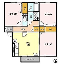 セジュールSASUKE[1階]の間取り
