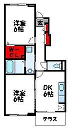 福岡県宗像市東郷5丁目の賃貸アパートの間取り