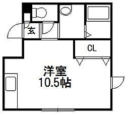 ハイツ・リヨン[1階]の間取り