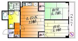 千里ピュアーライフ[3階]の間取り