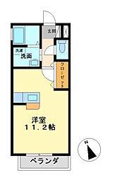 ルシール東原[2階]の間取り
