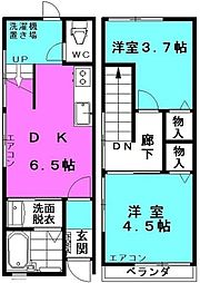 [一戸建] 東京都足立区柳原2丁目 の賃貸【/】の間取り