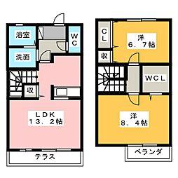 メゾン ド ファミーユ B棟[1階]の間取り