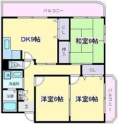パインバレイ[6階]の間取り