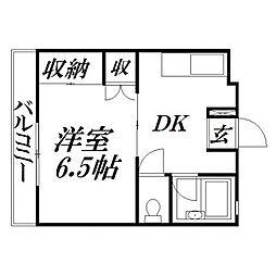 静岡県浜松市中区塩町の賃貸アパートの間取り
