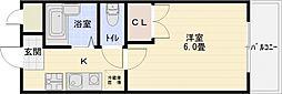 プランドール国分[2階]の間取り