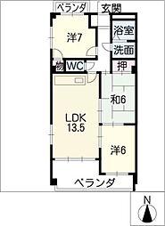 メゾン・ド・櫻[2階]の間取り