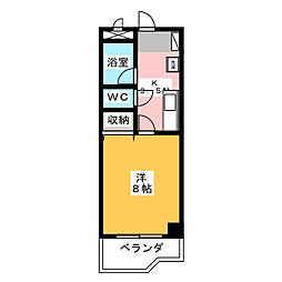 ナオイハイツII[2階]の間取り