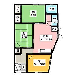 アパートメント岡ノ脇 B棟[1階]の間取り