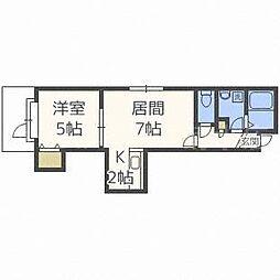 グランエステート菊水元町[3階]の間取り