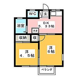 立木ハイツ[1階]の間取り