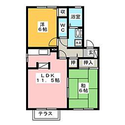 ローズガーデン清須 B棟[2階]の間取り