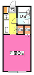 クレッセント秋津[1階]の間取り