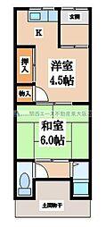[テラスハウス] 大阪府大東市御領1丁目 の賃貸【/】の間取り