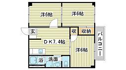 サンシャイン堂本[106号室]の間取り