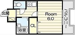 EST巽南[5階]の間取り