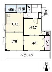 コンコ−ドHAYASHI[3階]の間取り