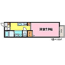 滋賀県大津市大門通の賃貸アパートの間取り
