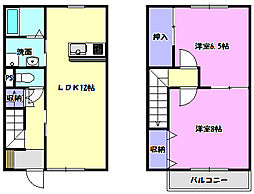 [テラスハウス] 茨城県つくばみらい市高岡 の賃貸【/】の間取り